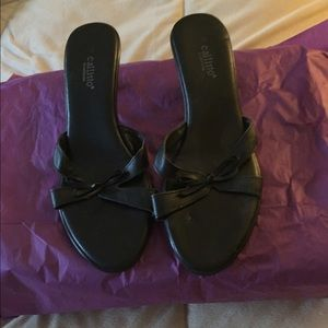 Callisto Shoes - Callisto Black Leather Mules sz 10