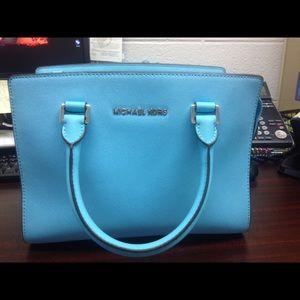 93d71da0807c Michael Kors Bags - MICHAEL KORS TURQUOISE HANDBAG and wallet