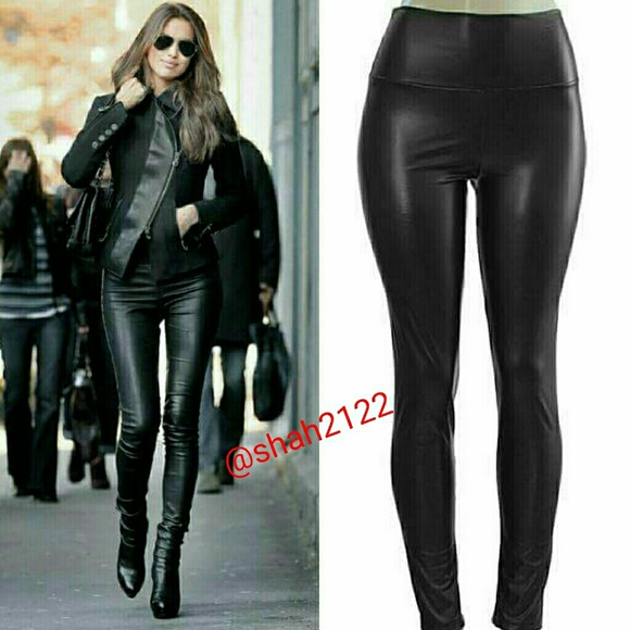 99598651944919 Boutique Pants | Black Faux Leather Legging High Waisted Sexy | Poshmark