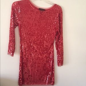 Arden B red sequin party dress