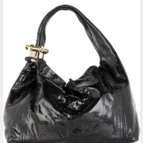 163e0777bd Jimmy Choo Handbags - Authentic Jimmy Choo black Python Saba hobo bag