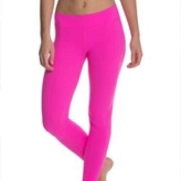 75% off Beyond yoga Pants - Hot pink Beyond Yoga side panel ...