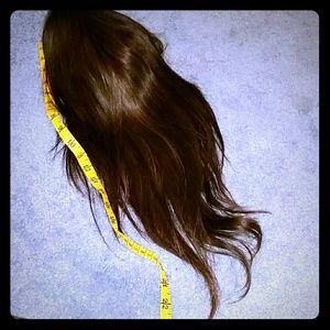 "Accessories - 24"" Burnette Brown Long Human hair wig"