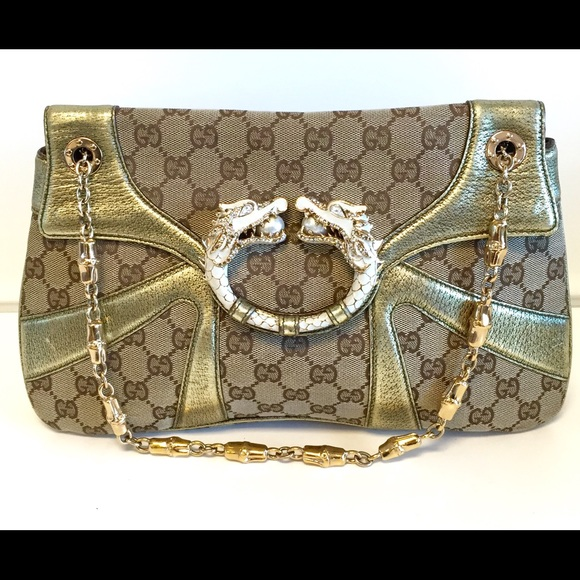 8b0951a1719 Gucci Handbags - 💯 Authentic Gucci Tom Ford Jeweled Dragon Bag