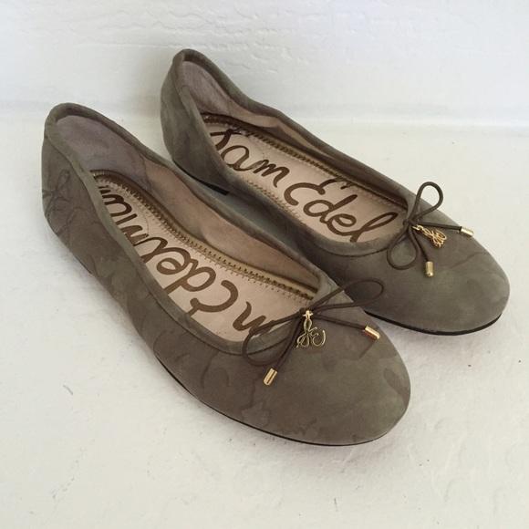ecf17b6fc6a1 Sam Edelman Felicia Ballet Flats Camo Army Green 5.  M 564124989c6fcf6c20003a57