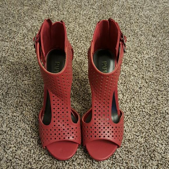 Paper Fox Shoes - Paper Fox Crimson Heels