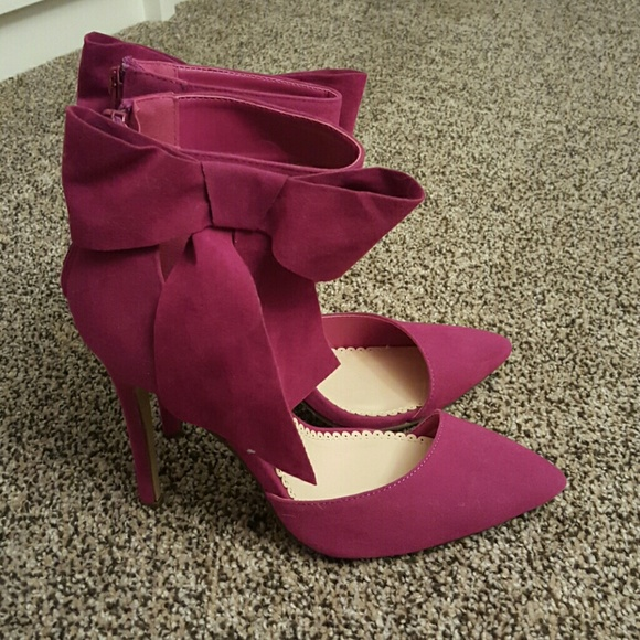 Shoes - Plum Pink Madison Bow Heels