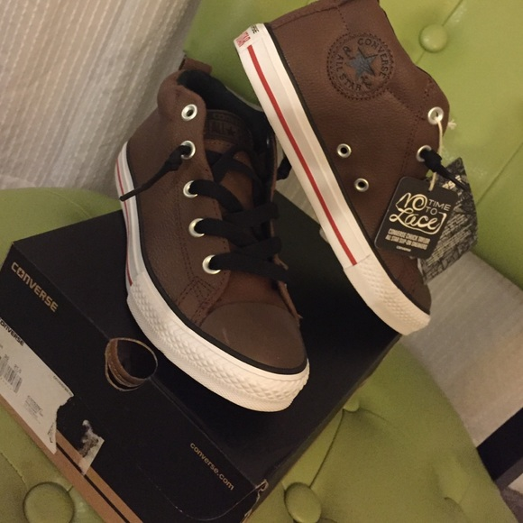947939a96cbdec Brown Leather Converse Ankle Bootie Sneaker 5