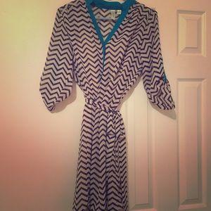 Chevron dress size small