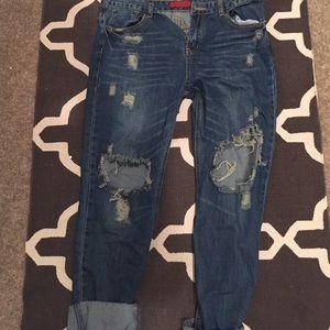 Denim - ShopHopes distressed denim boyfriend jeans