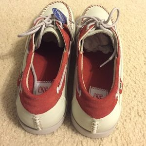 Lacoste Shoes - Lacoste Boat Shoes (Red & Off White)