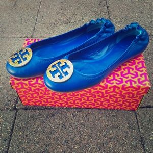 Tory Burch Shoes - Nile Blue Tory Burch Reva Flats