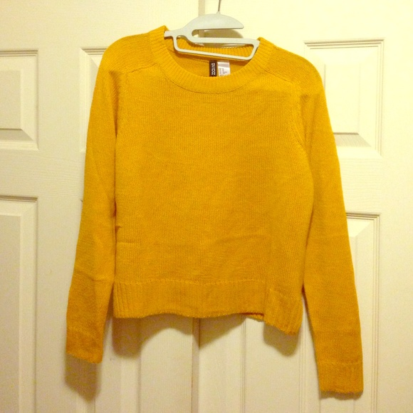 H\u0026M Mustard Sweater golden yellow XS
