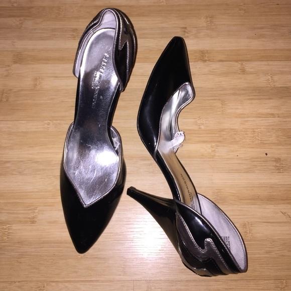 503170e6823 Sigerson Morrison for Target Black   Silver Heels.  M 564155426ba9e674ef028487