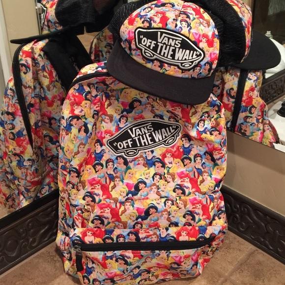 b0c75f31cd5eb5 Vans disney Princess backpack and hat. M 564159f8ea99a6f06d0284ce