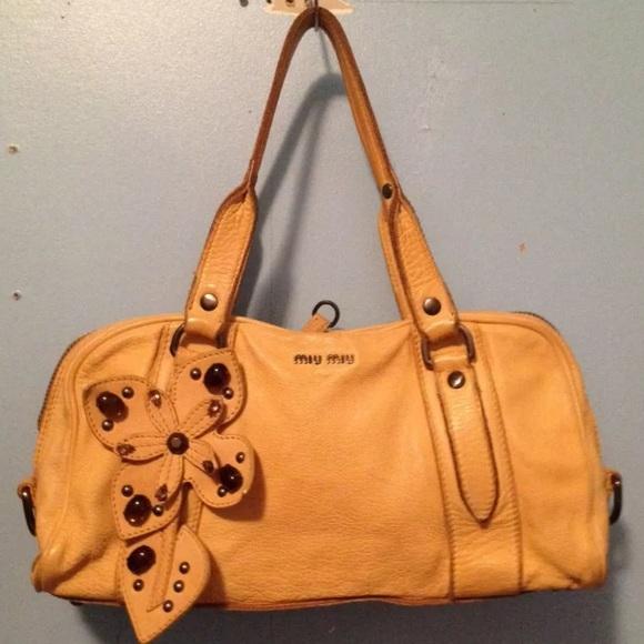 Miu Miu Bags   Flower Shoulder Bag   Poshmark 6166581e50