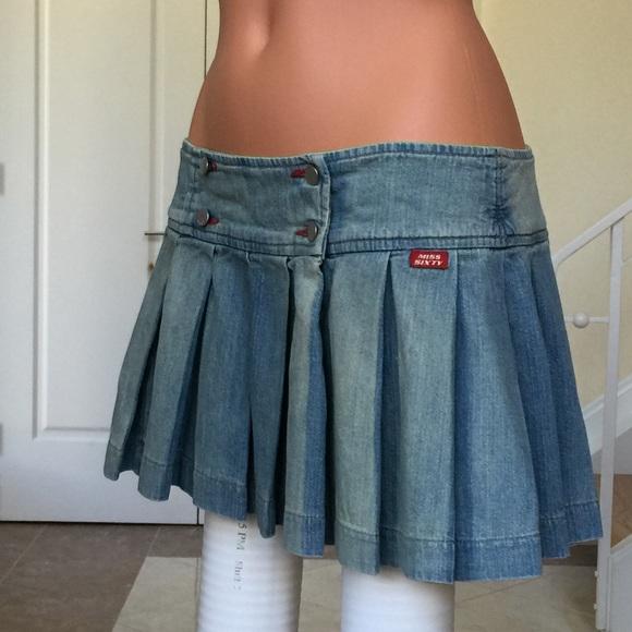 Miss Sixty - Miss Sixty Denim Pleated Mini from Lena's closet on ...