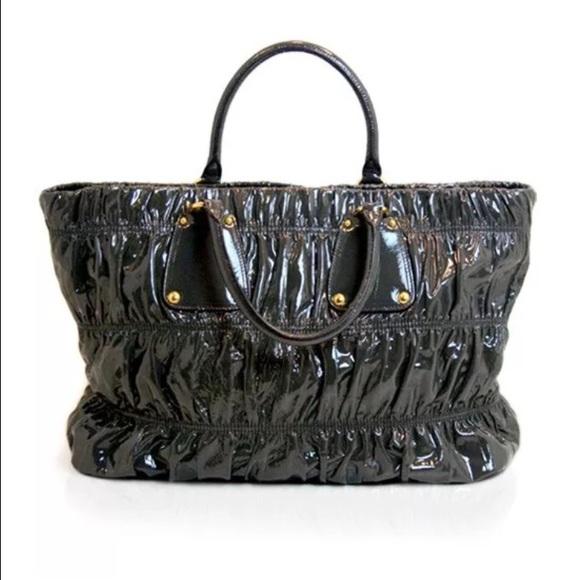 1befbe927 Prada Bags | Vernice Gaufre Patent Leather Tote | Poshmark