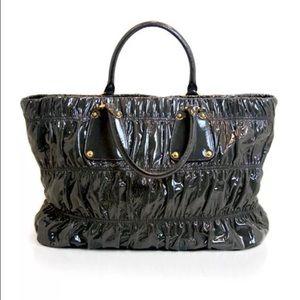 Prada Handbags - Prada Vernice Gaufre patent leather tote
