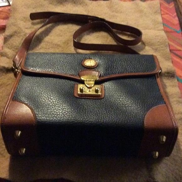850e23dfebe Pierre Balmain Bags | Vintage Navy Leather Shoulder Bag | Poshmark