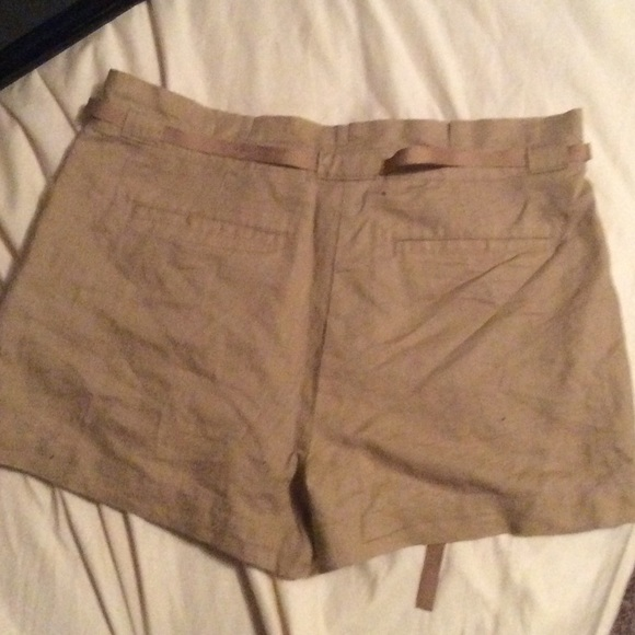 High Rise Khaki Shorts