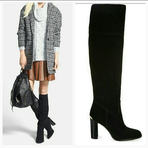 1hr Sale Michael Kors Black Suede Boots