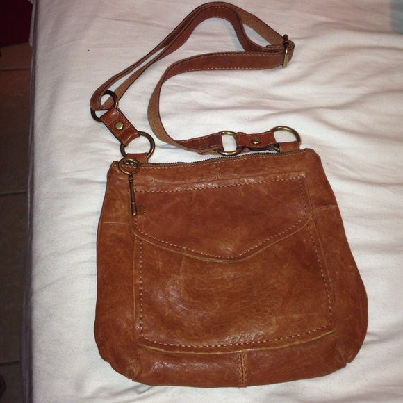 0d18e236b Fossil Handbags - 🎄 SALE Fossil Rustic Brown Leather Purse