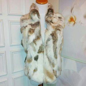 100% Lapin Fur Vest