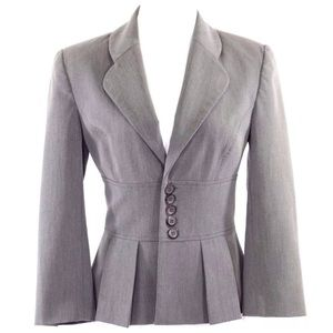 Alvin Valley Gray Fitted Career Jacket 38 $650