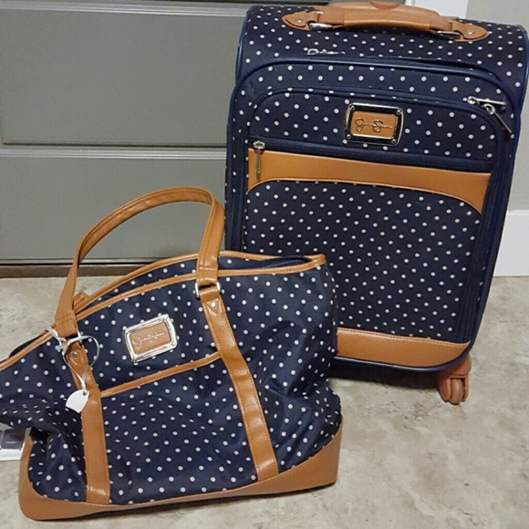 cfd5a4a04a20b Jessica Simpson Other - Jessica Simpson polka-dot luggage 2pc set!