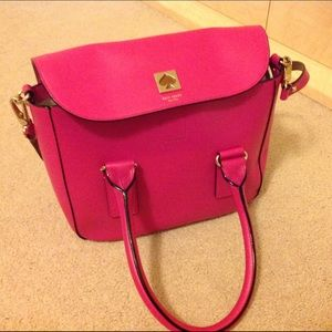 Hot pink Kate spade Florence street bond satchel