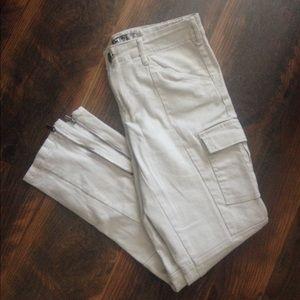 Denim - Khaki skinny jeans