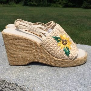 Shoes - Adorable Sunflower Wedges!