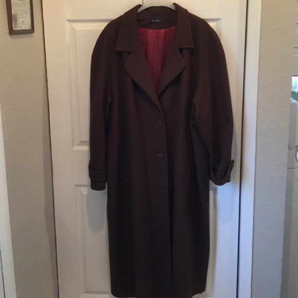 HUNTERS RUN - CHOCOLATE BROWN WOOL DRESS COAT from !shelly's ...