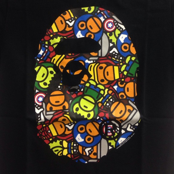 46aa8129 Bape Tops | Marvel Exclusive | Poshmark