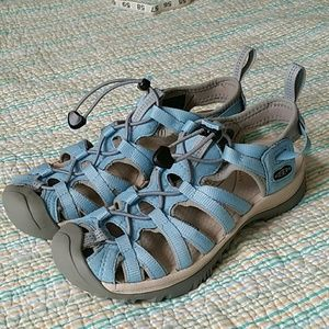 33ce58e59850 Keen Shoes - Keen Whisper Alaskan Blue   Gray Sandals Sz 7.5