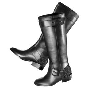 B BRIAN ATWOOD Dita Black Leather Boots