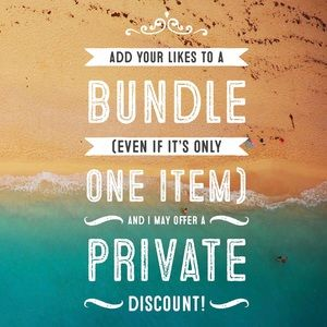 Bundle for Private Discounts, Offers Welcome!