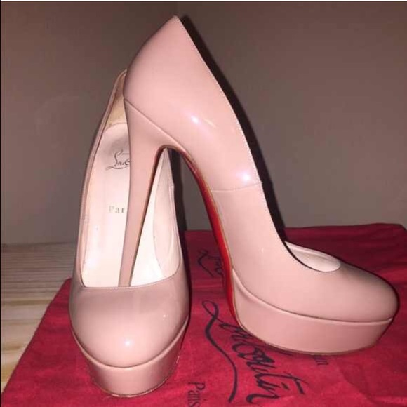 0060f2e60d86 Christian Louboutin Shoes - Christian Louboutin Bianca 140mm Nude Patent  Pumps