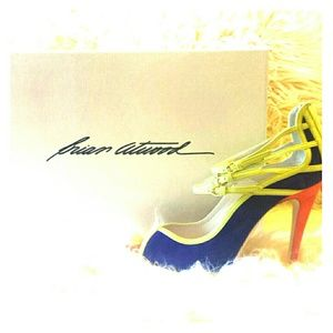 Brian Atwood Shoes - Neon orange yellow blue green heels (: