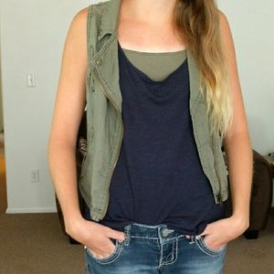 Maurices Jackets & Coats - Asymmetric Zip Military Vest