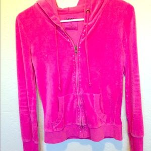 Jenny Packham Sweaters - Cute pink velvet kind of feel. Sweatshirt jacket.