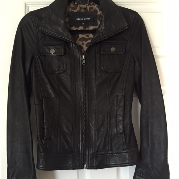 57% off Wilsons Leather Jackets & Blazers - Wilson Leather Black ...