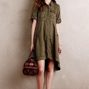 Anthropologie Military Swing Shirtdress - Sz 4