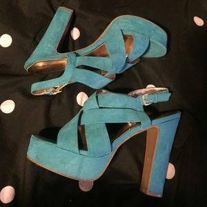Mossimo Teal Platform Sandals