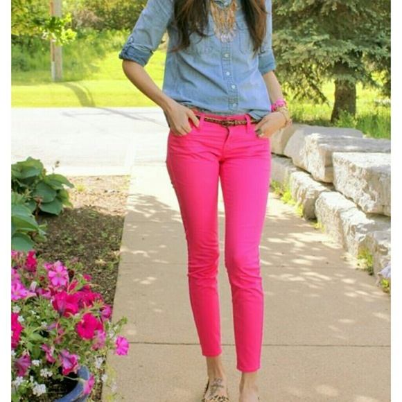 Hollister - Hollister hot pink skinny jeans! Perfect condition