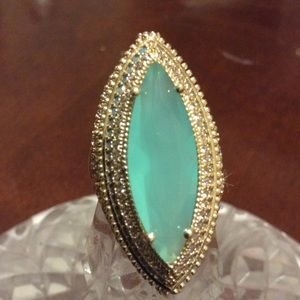 Jewelry - NATURAL AQUA MARINE WHITE TOPAZ RING