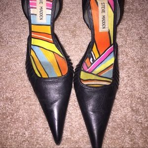 Steve Madden pumps with silver stiletto size 6.5