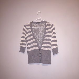 Tops - Lace Back Cardigan NWOT