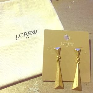 J Crew gold drop earrings